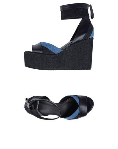 Pierre Hardy 'Bauhaus' Platform Wedge Sandals In Dark Blue