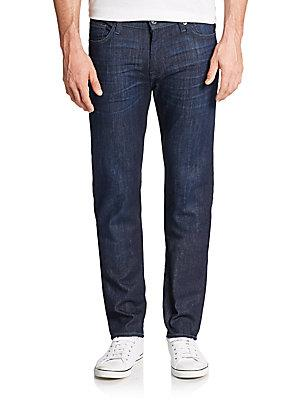 7 For All Mankind Slimmy Straight-Leg Jeans In Metrodark