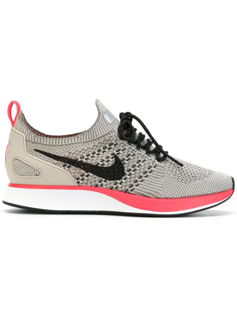 watch 84aa8 c21d2 Nike Air Zoom Mariah Flyknit Racer Sneakers In String Blk-Wht-Solar Red