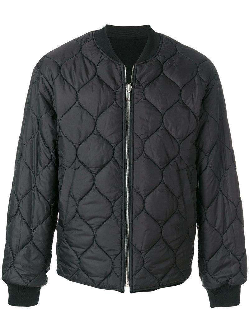 Juun.J Embroidered Back Padded Jacket In Black
