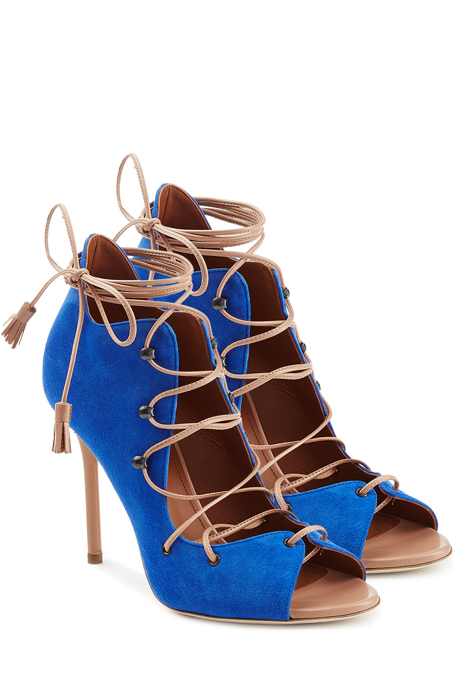 Malone Souliers Sherry Suede Stiletto Sandals In Blue