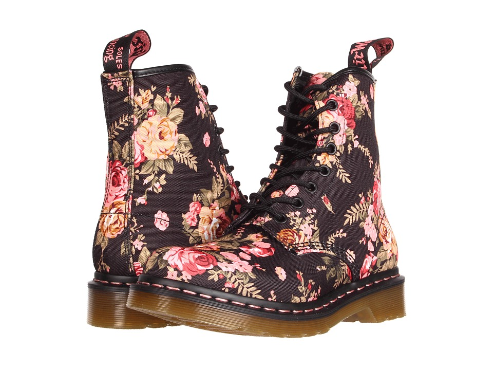 c718cb879d Dr. Martens - 1460 W (Black Victorian Flowers) Women's Lace-Up Boots