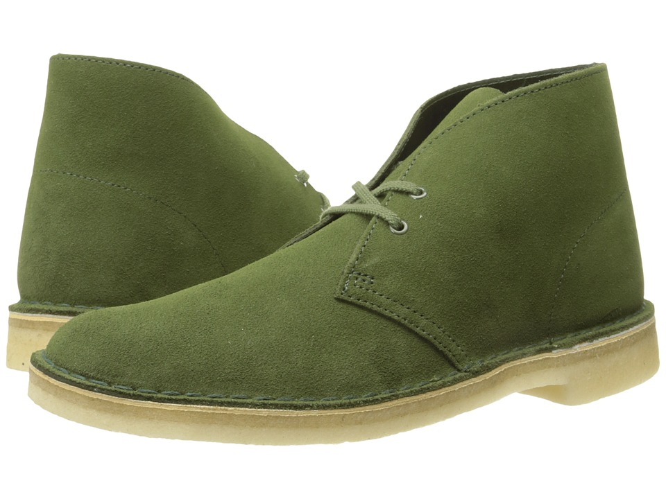 Clarks Desert Boot (Leaf Suede) Men's Lace Up Boots