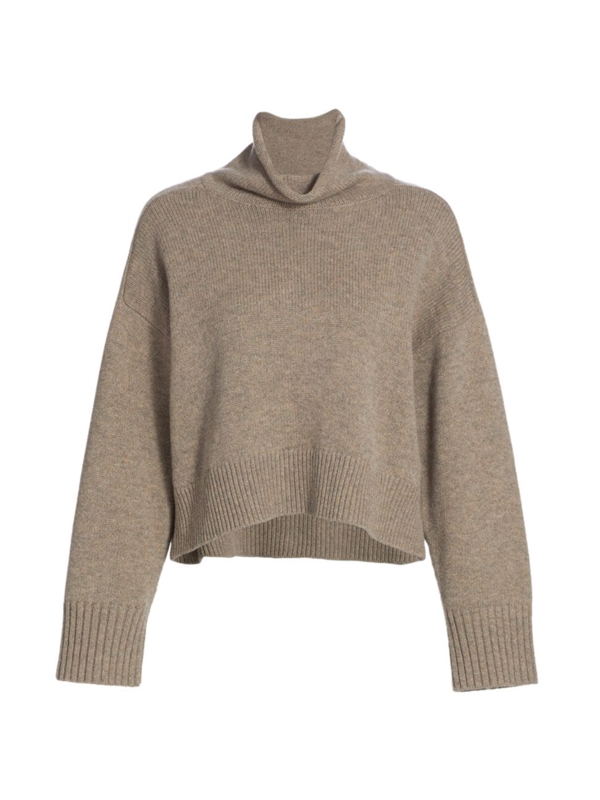 Loulou Studio Stintino Funnelneck Wool & Cashmere Knit Sweater In Ashes Melange