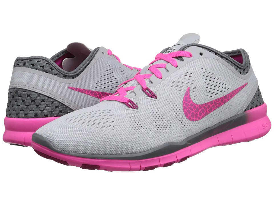 info for e69e7 4c93c Nike - Free 5.0 Tr Fit 5 Breathe (Pure Platinum/Cool Grey/Pink  Pow/Fireberry) Women's Cross Training
