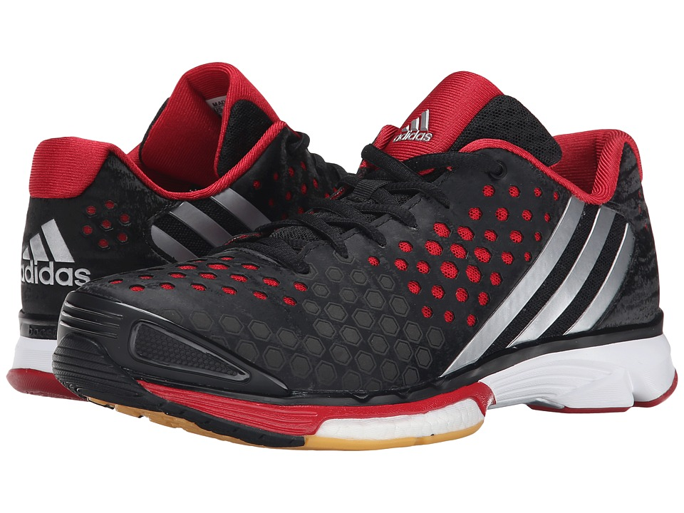 Adidas - Volley Response Boost (black/silver Metallic/power Red) Women's Volleyball Shoes