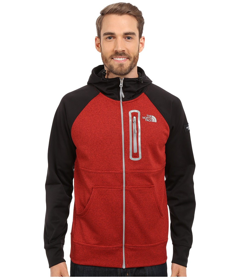 d88fd04ab The North Face - Mack Mays Full Zip Hoodie (Pompeian Red Heather/Tnf Black  (Prior Season)) Men's Swe