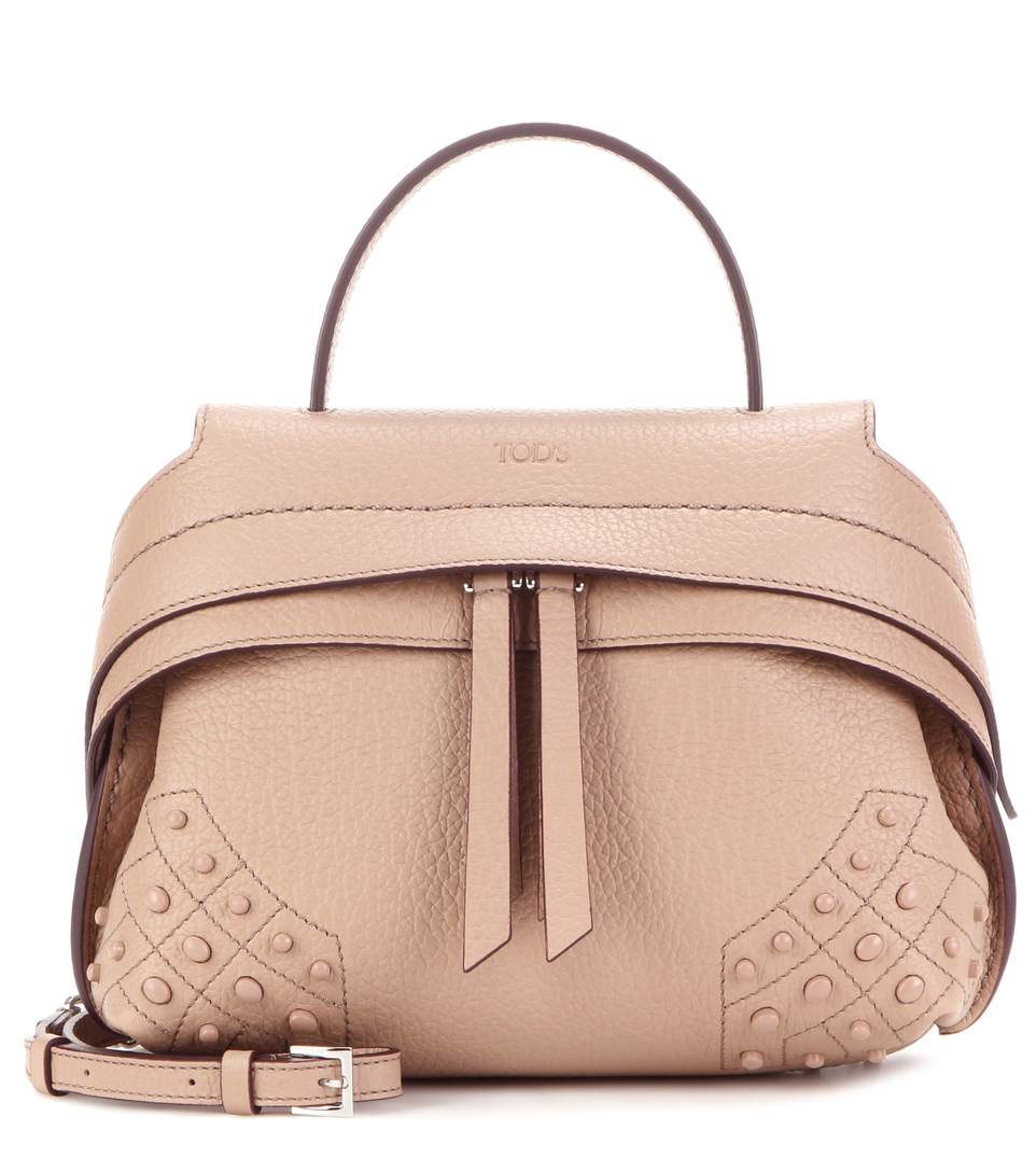 48bef409197 Tod's Micro Wave Leather Shoulder Bag In Poudre | ModeSens