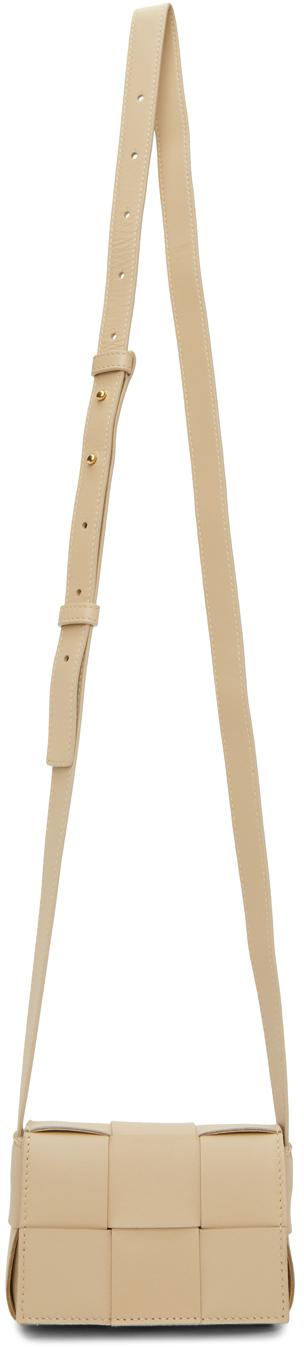 Bottega Veneta Mini Cassette Woven Crossbody Bag In 9776 Porridge/gold