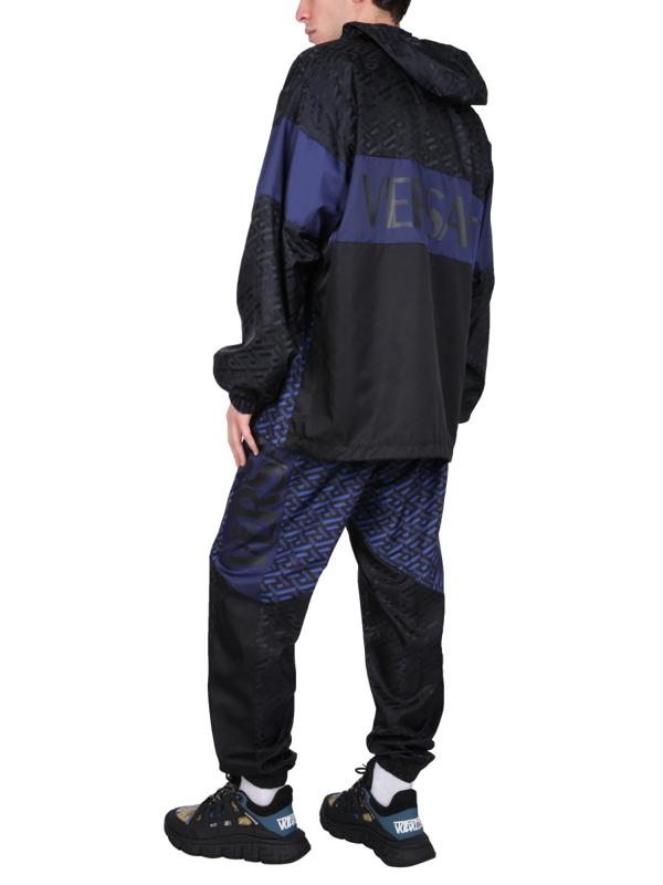Versace Jogging Pants With Greek Print In Multicolor