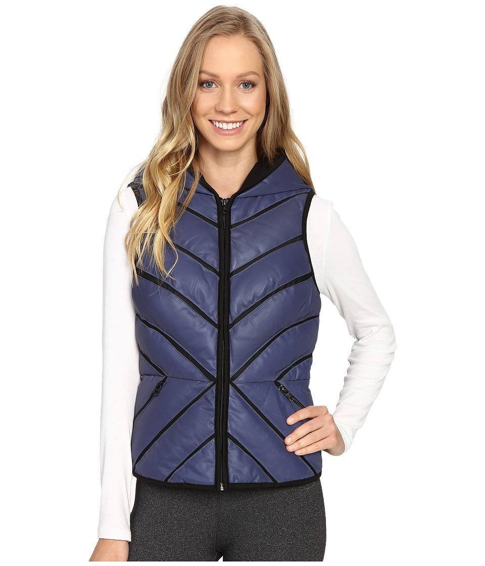 a0c2ba886280 BLANC NOIR. Blanc Noir - Mesh Inset Puffer Vest Reflective (Midnight) Women's  Vest