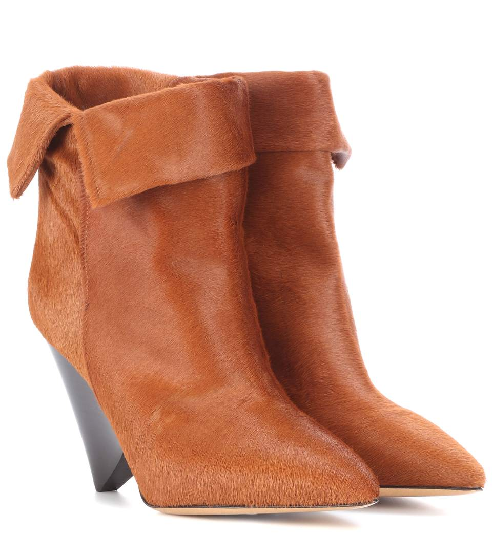 Isabel Marant Luliana Leather Ankle Boots In Brown