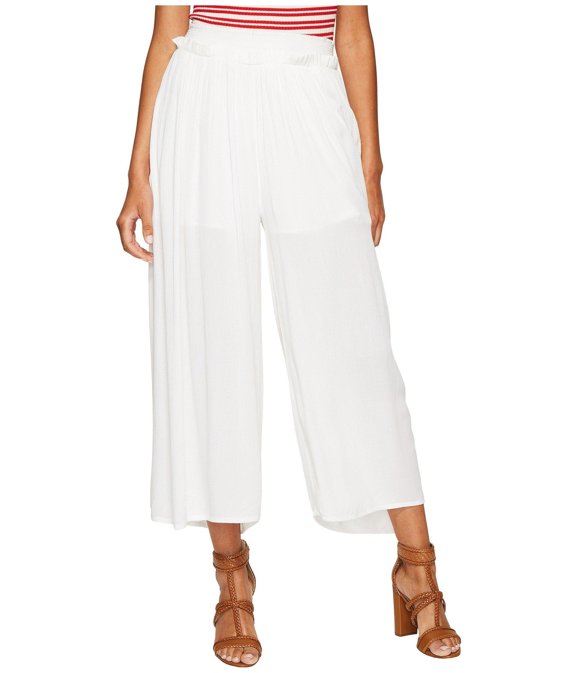 Bishop + Young Flowy Pull Up Pants In White
