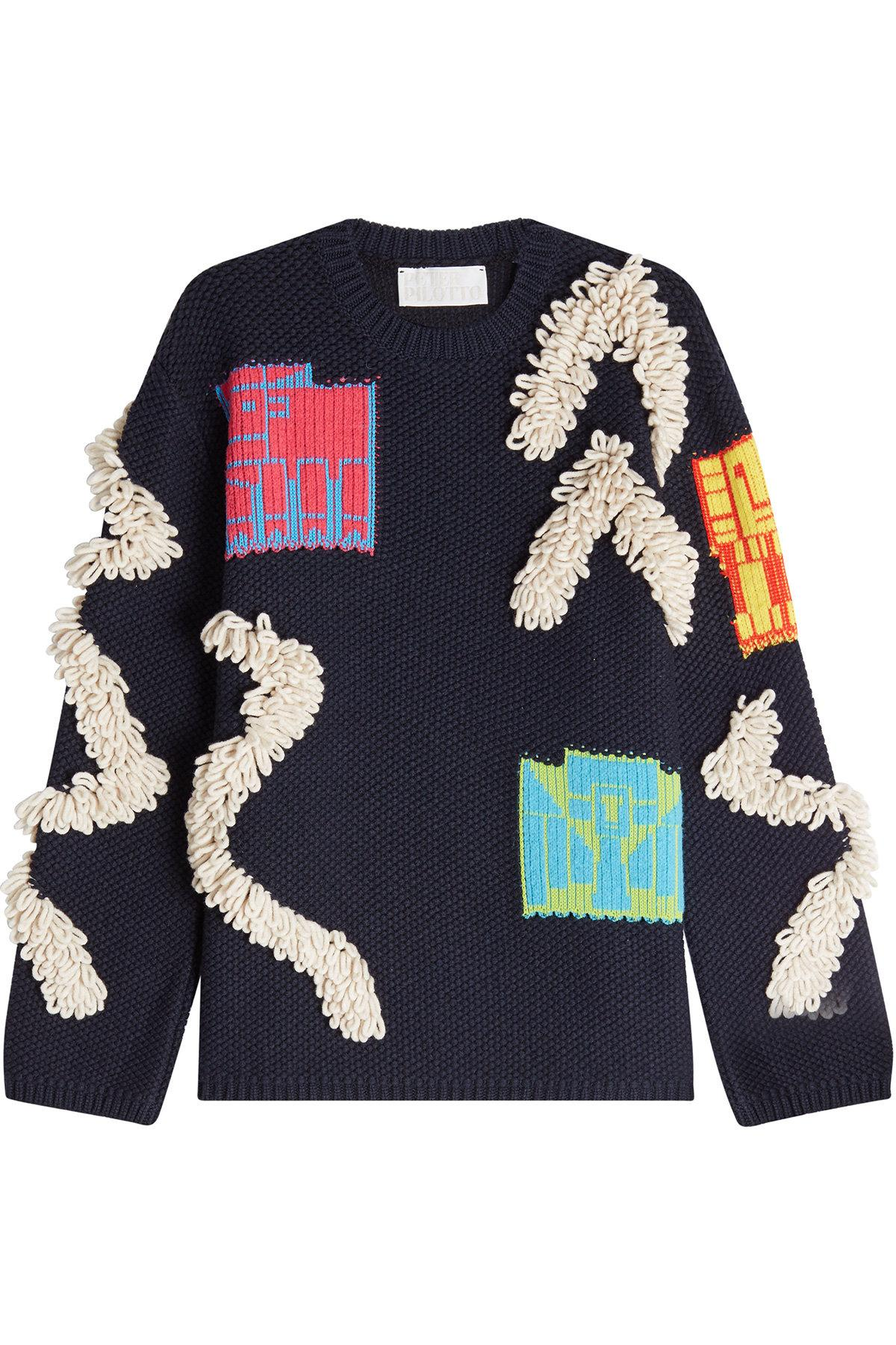 Peter Pilotto Pullover With Wool And Cotton In Blue