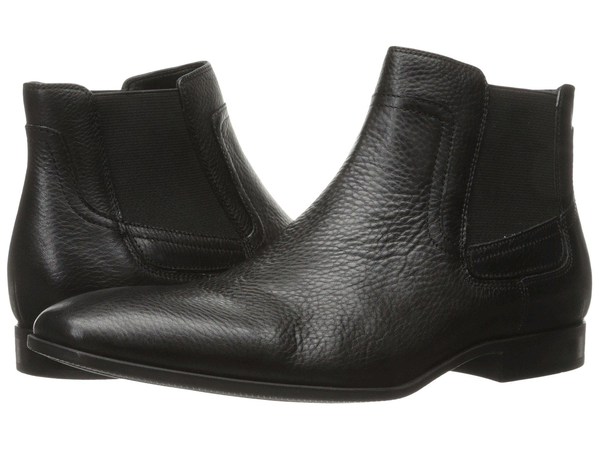 Calvin Klein Clarke In Black Tumbled Cow Leather