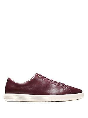 Cole Haan Grand Crosscourt Leather Sneakers In Malbec Leather