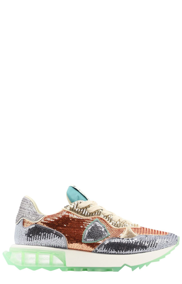 Philippe Model Sneakers With Sequins In Multi