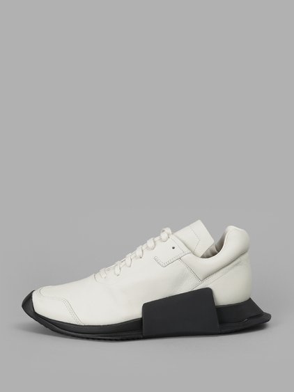 Rick Owens Women's White New Runner Sneakers