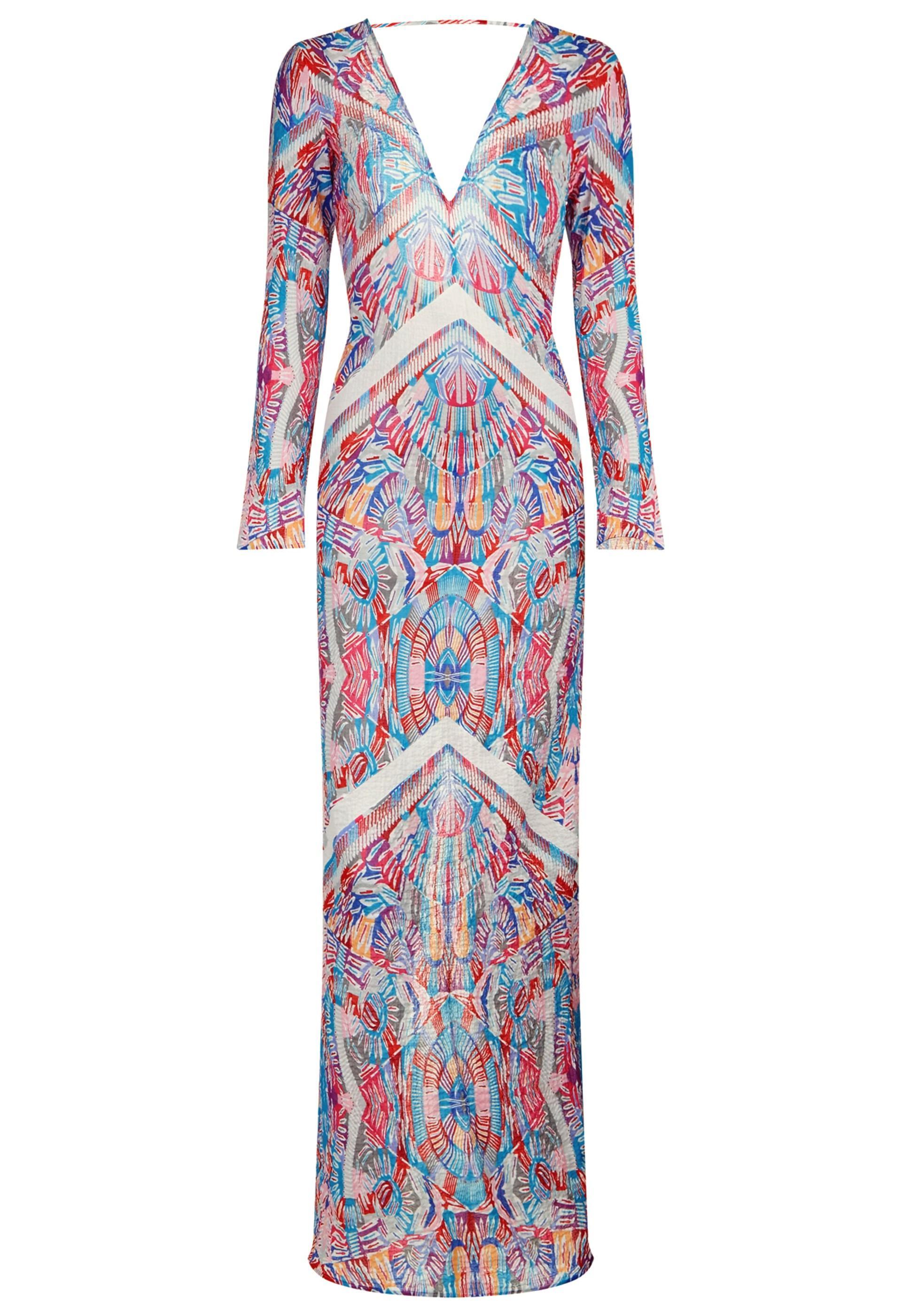 La Perla Free Spirit Long Sleeve Long Dress, Mosaic Print