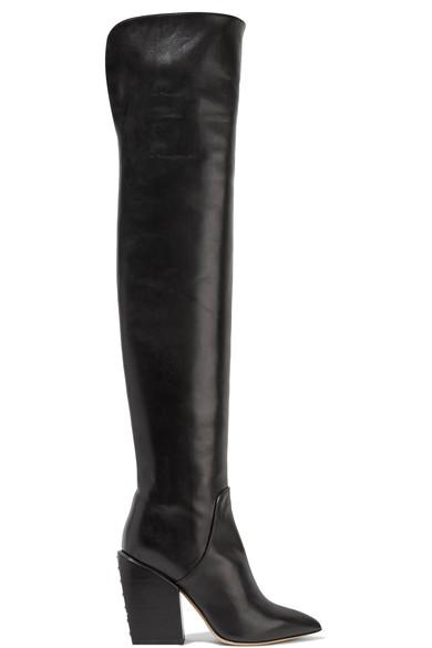 Petar Petrov Shirin Studded Leather Over-The-Knee Boots