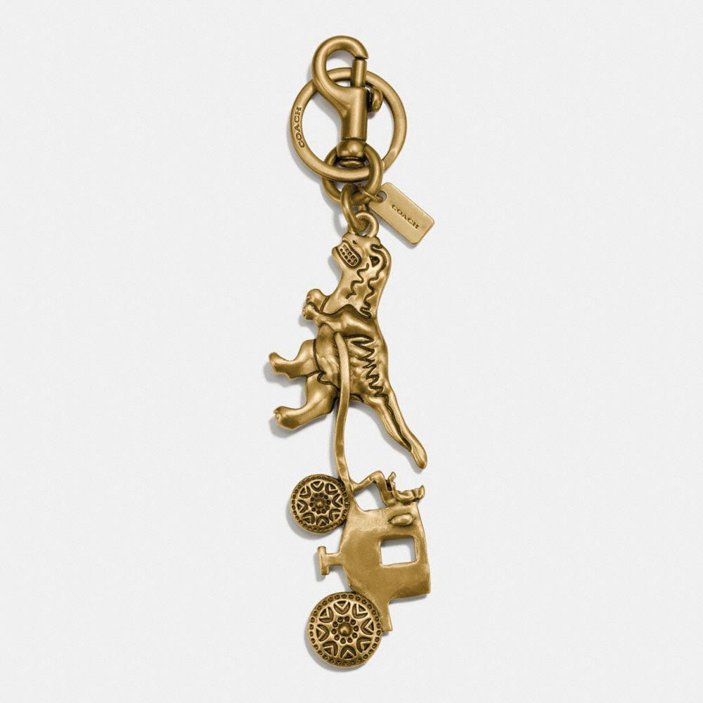 Coach Rexy And Carriage Bag Charm - Women's In Gold/Gold