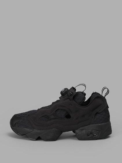 Reebok Men's Black Instapump Fury Sneakers