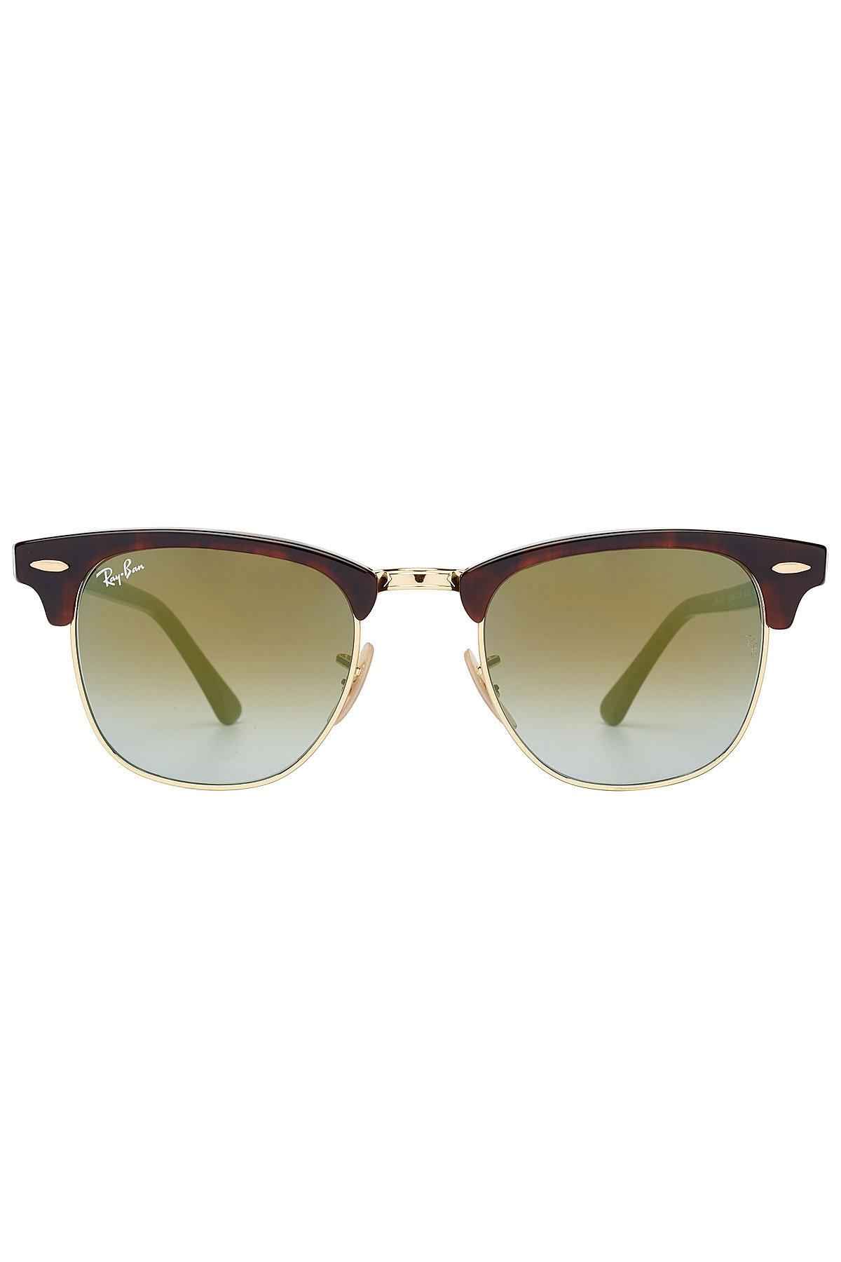 Ray Ban Rb3016 Clubmaster Sunglasses In Brown
