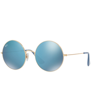 Ray Ban The Ja-Jo 54Mm Round Sunglasses - Gold In Gold/Blue Transparent