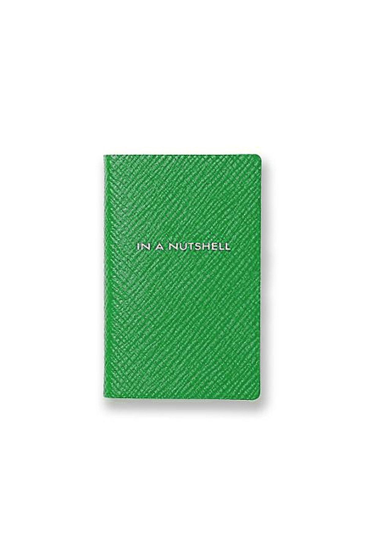 Smythson In A Nutshell Leather Book In Green