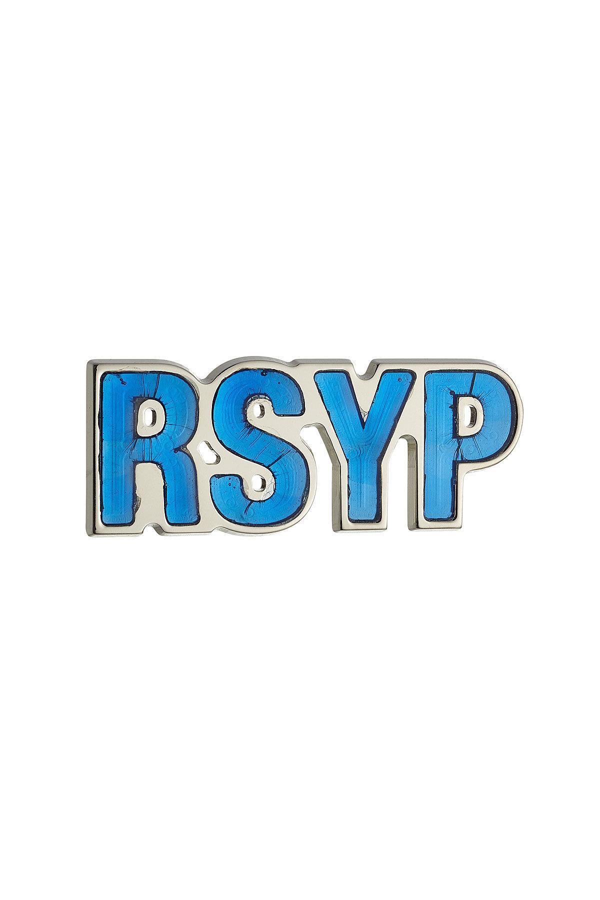 Raf Simons Rsyp Pin In Blue