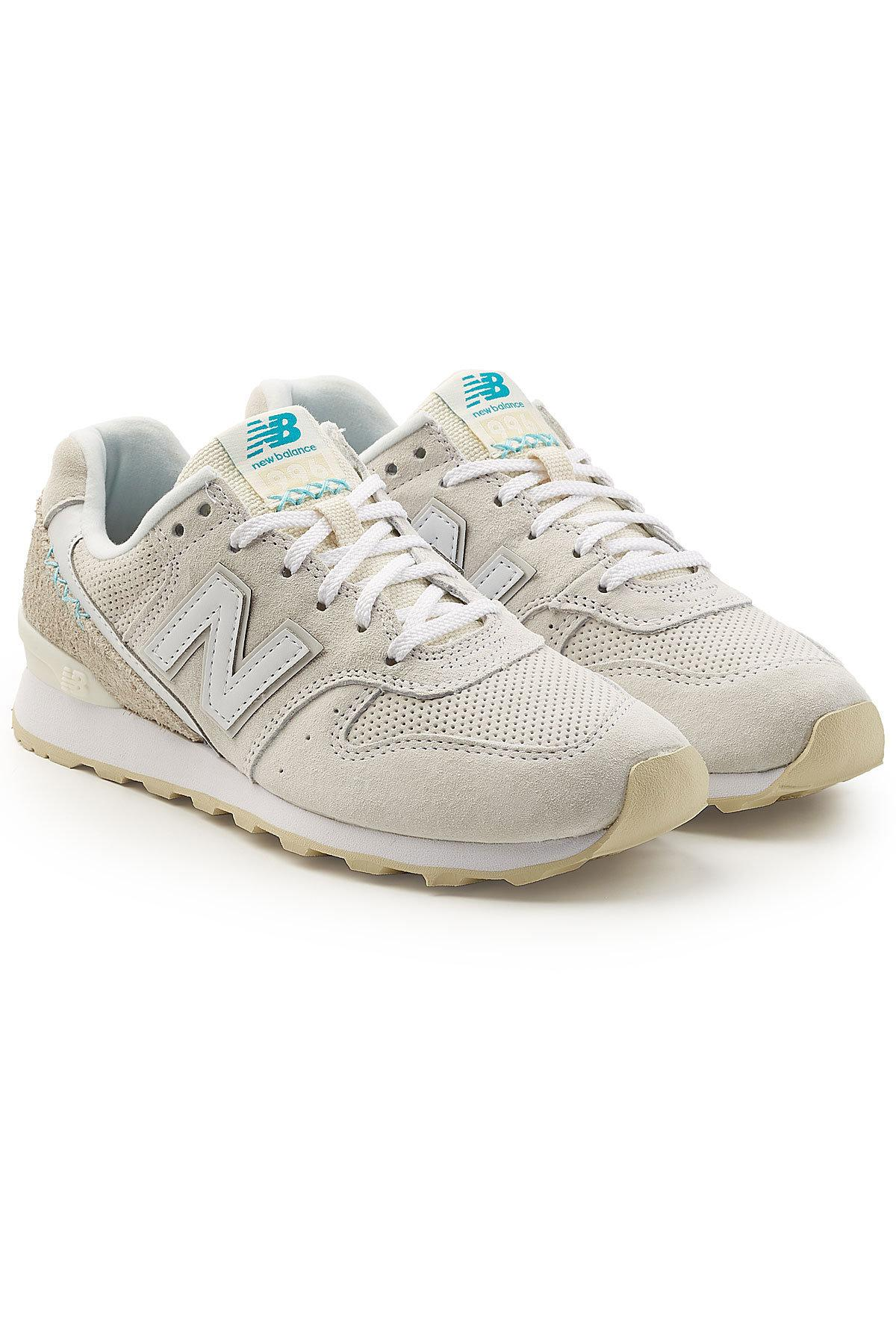 New Balance Wr996D Sneakers With Suede And Mesh In White