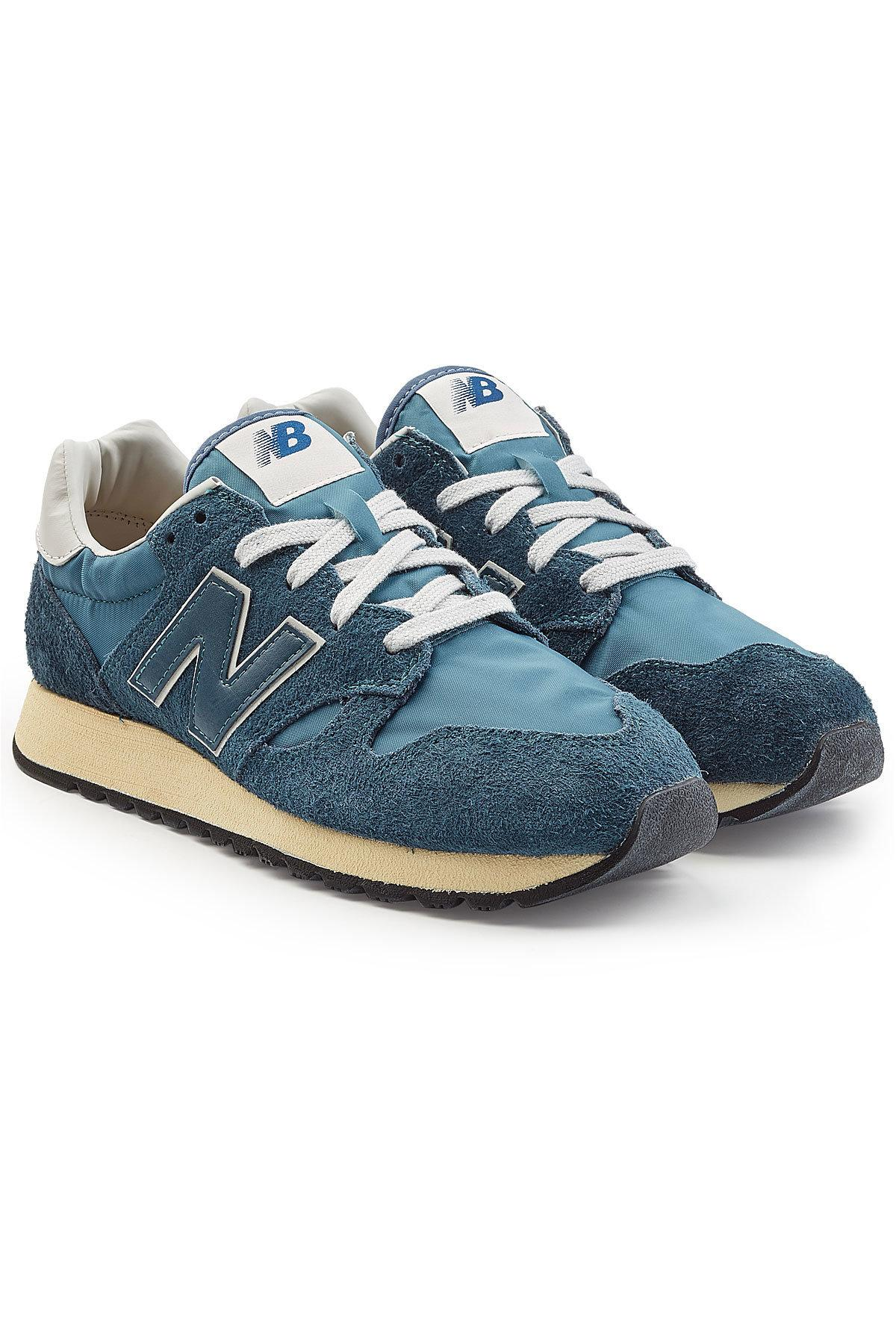 New Balance U520D Sneakers With Suede And Mesh In Blue