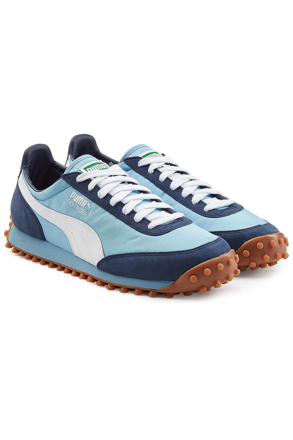 Puma Fast Rider Og Sneakers With Leather In Blue