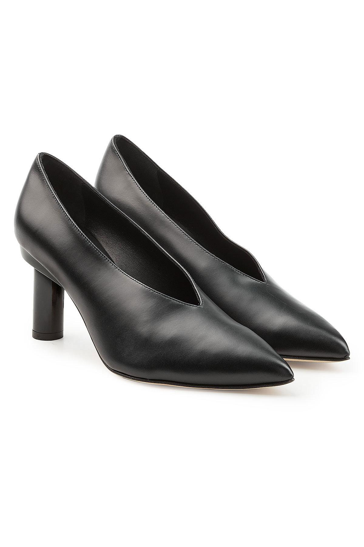Tibi Pointed Toe Pumps In Black