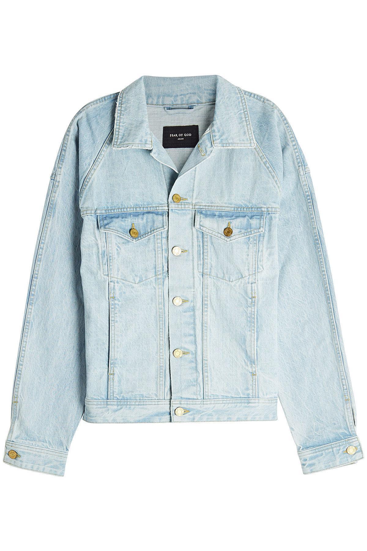 Fear Of God Denim Jacket In Blue