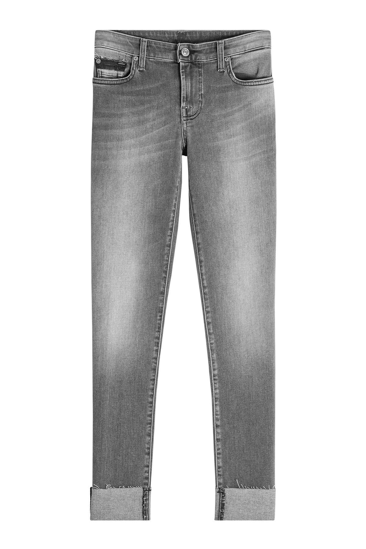 7 For All Mankind Pyper Skinny Jeans In Grey