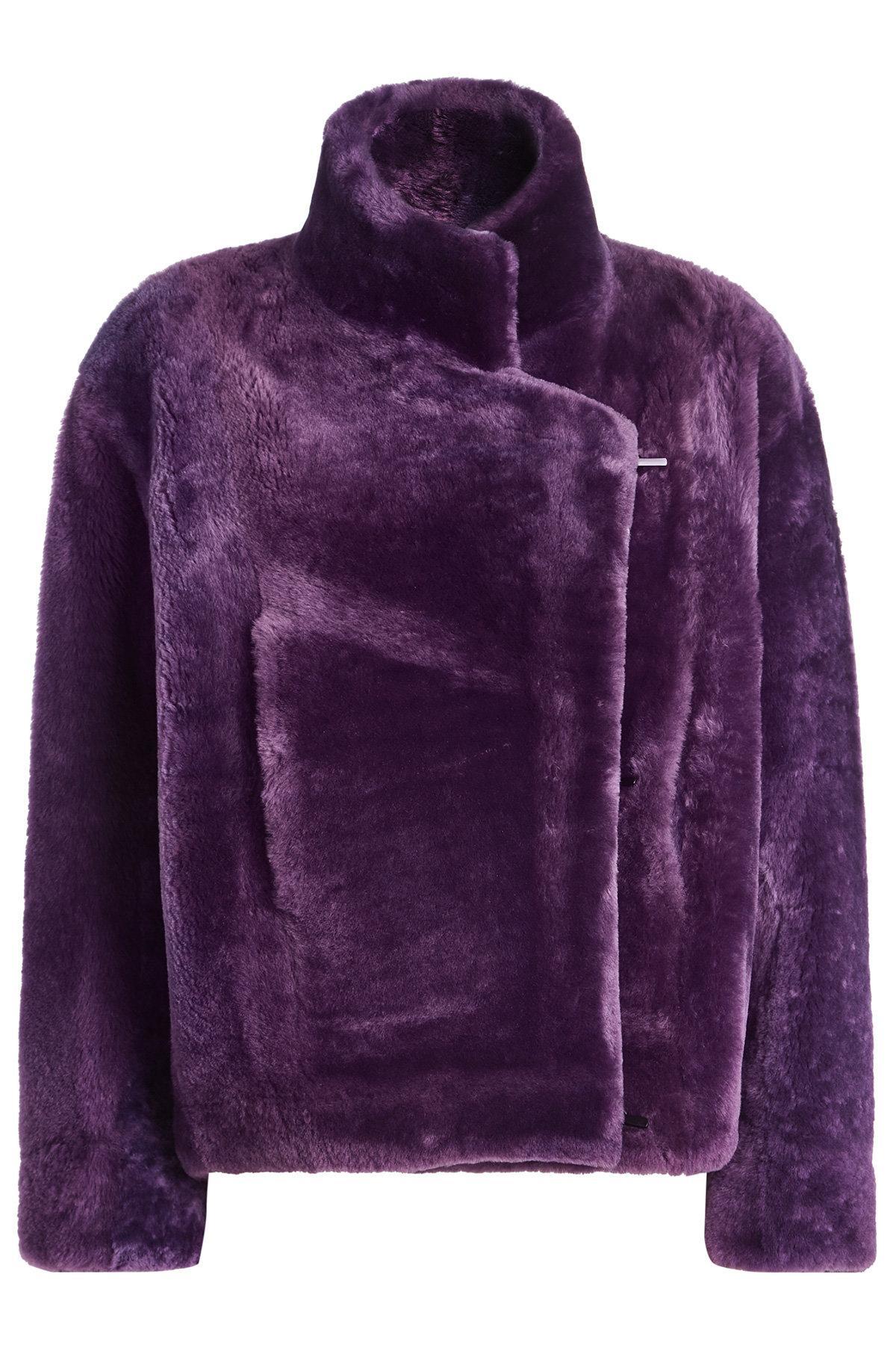 Petar Petrov Fur Jacket In Purple