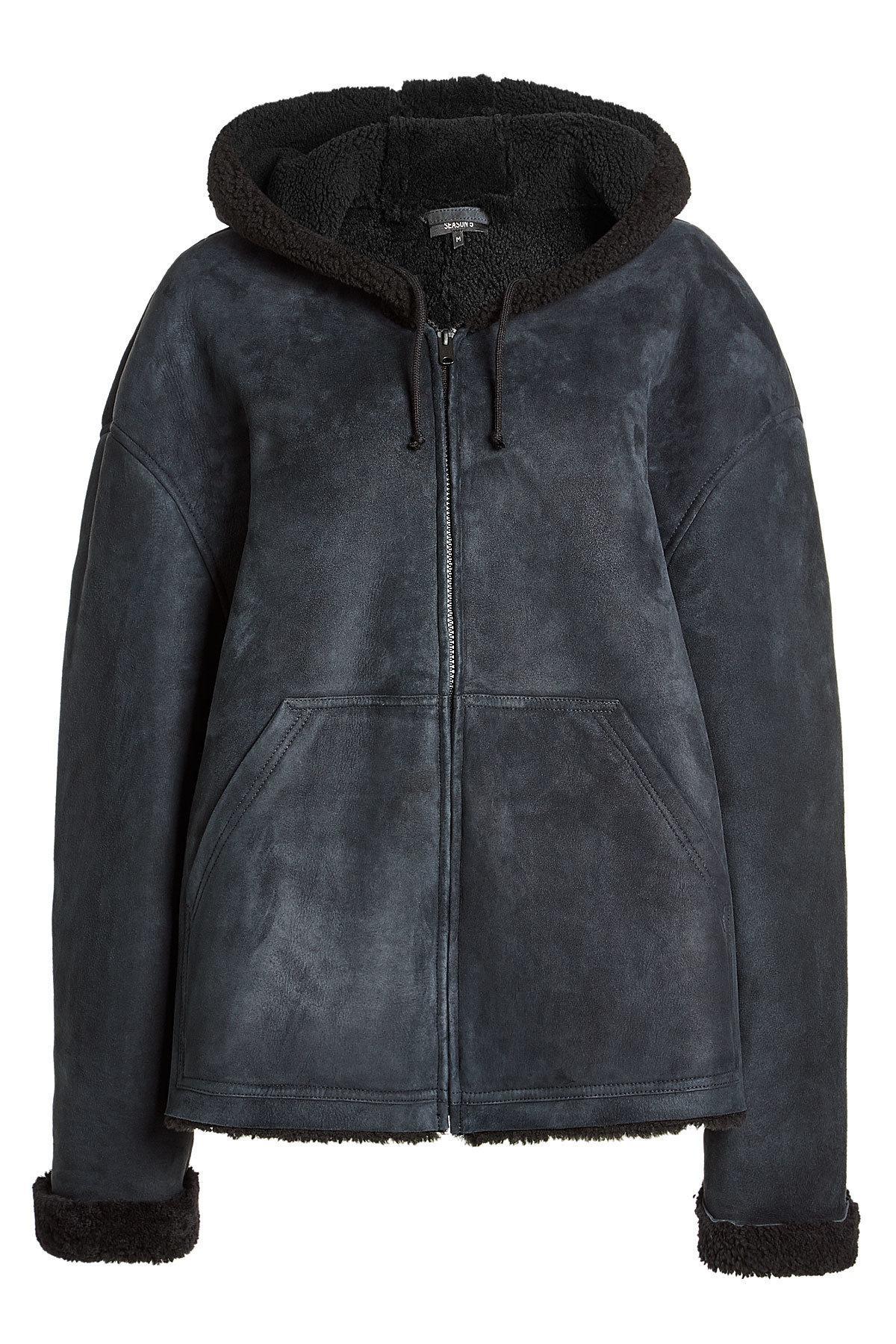 Yeezy Shearling Jacket In Blue