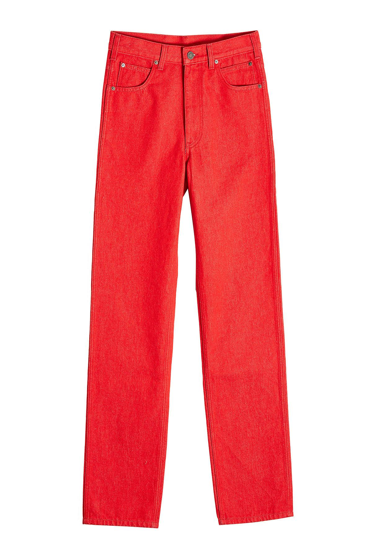 Calvin Klein 205W39Nyc Straight Leg Jeans In Red
