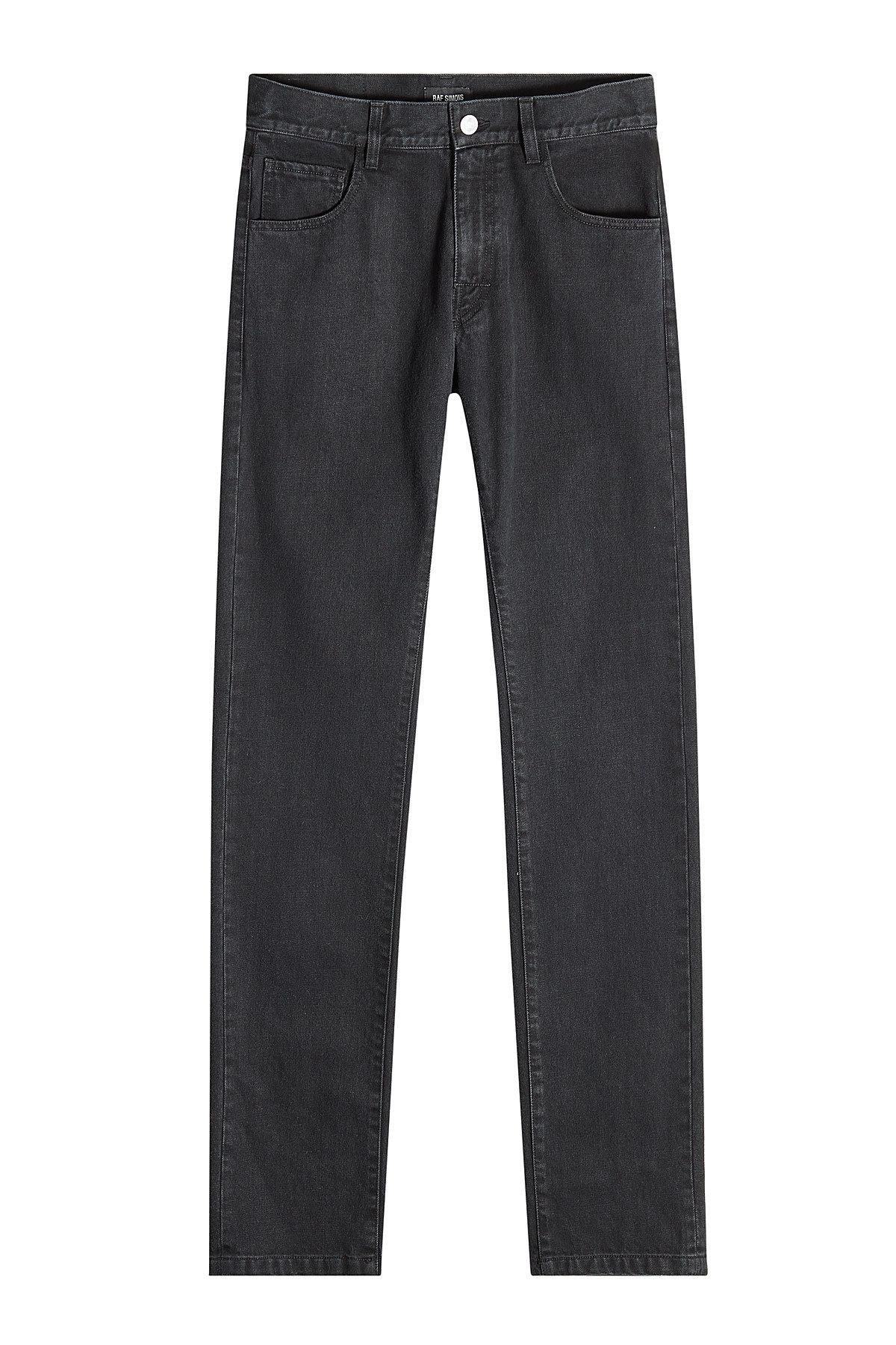 Raf Simons Slim Jeans With Duct Tape In Black