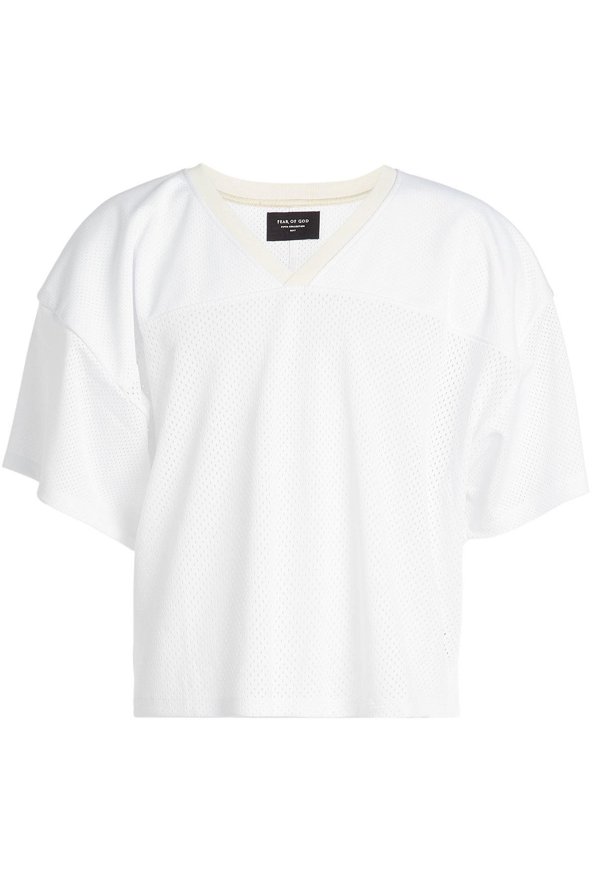 Fear Of God Mesh T-Shirt In White