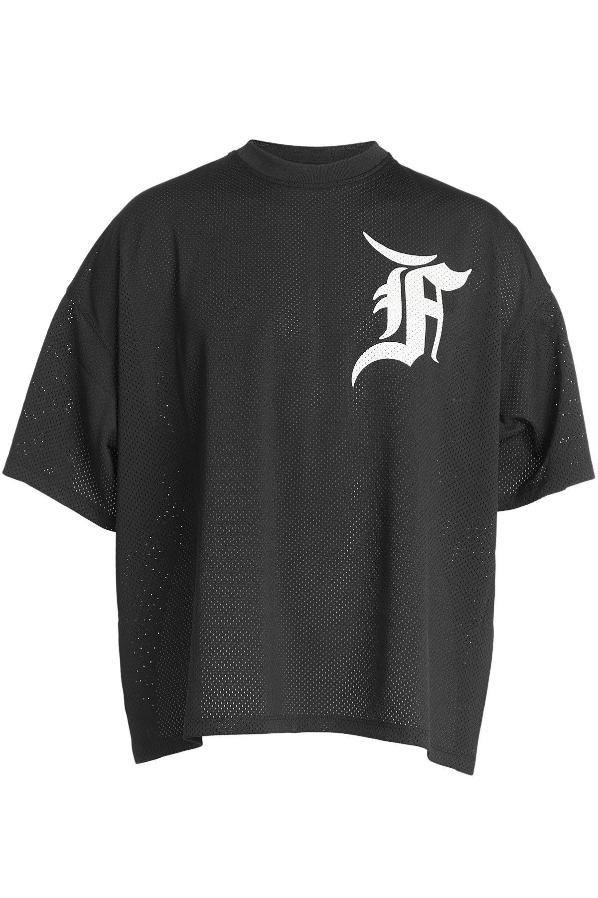 Fear Of God Printed Mesh T-Shirt In Black