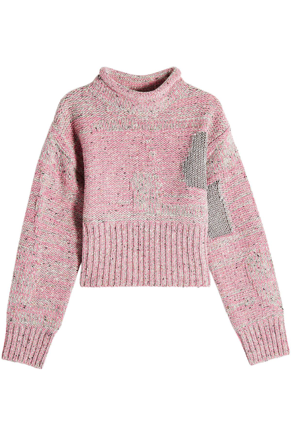 3.1 Phillip Lim Woman Metallic Wool-Blend Sweater Pink In Candy Pink