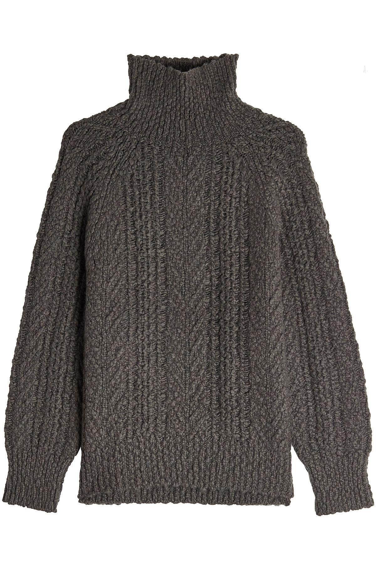 Vince Turtleneck Pullover With Wool And Cashmere In Grey