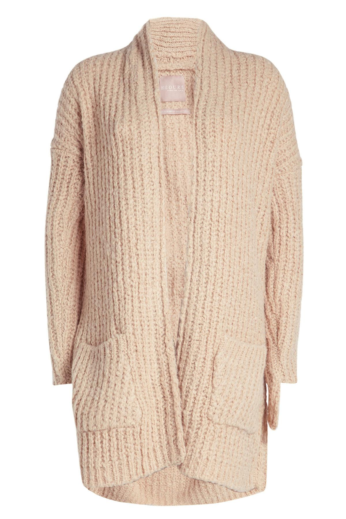 Cardigan With Superfine Alpaca And Wool In Beige