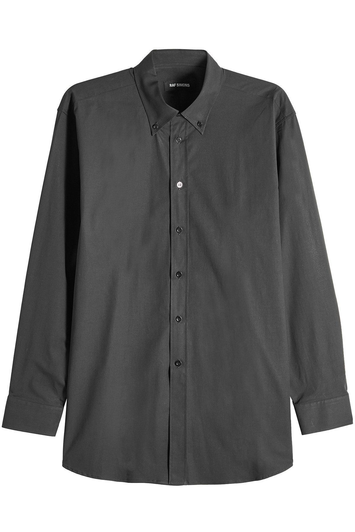 Raf Simons Printed Cotton Shirt In Black