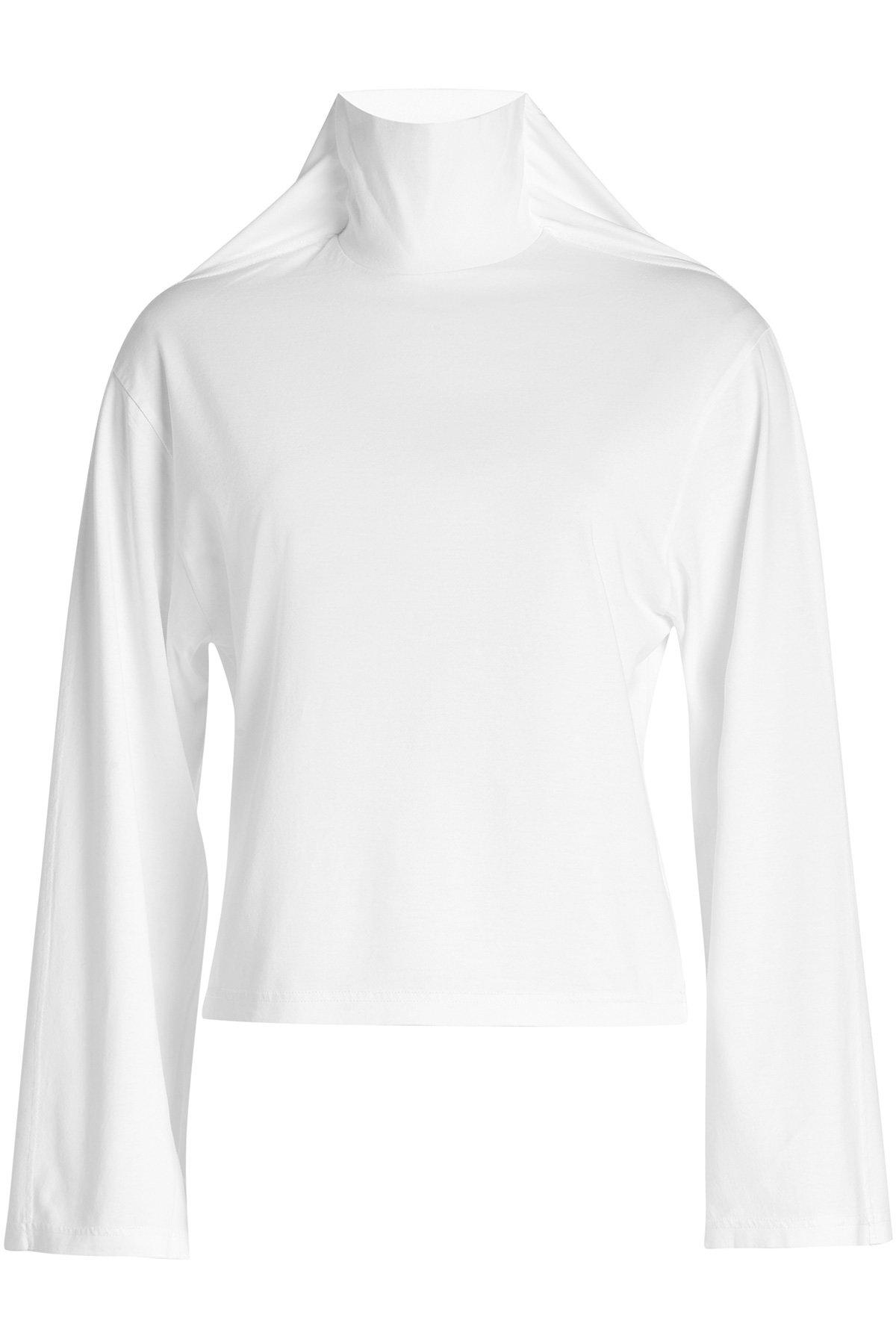 Y/Project Panel-Sleeve Cotton Turtleneck In White