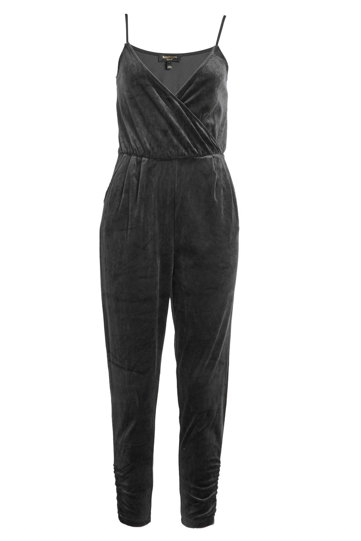 Juicy Couture Velvet Jumpsuit In Black