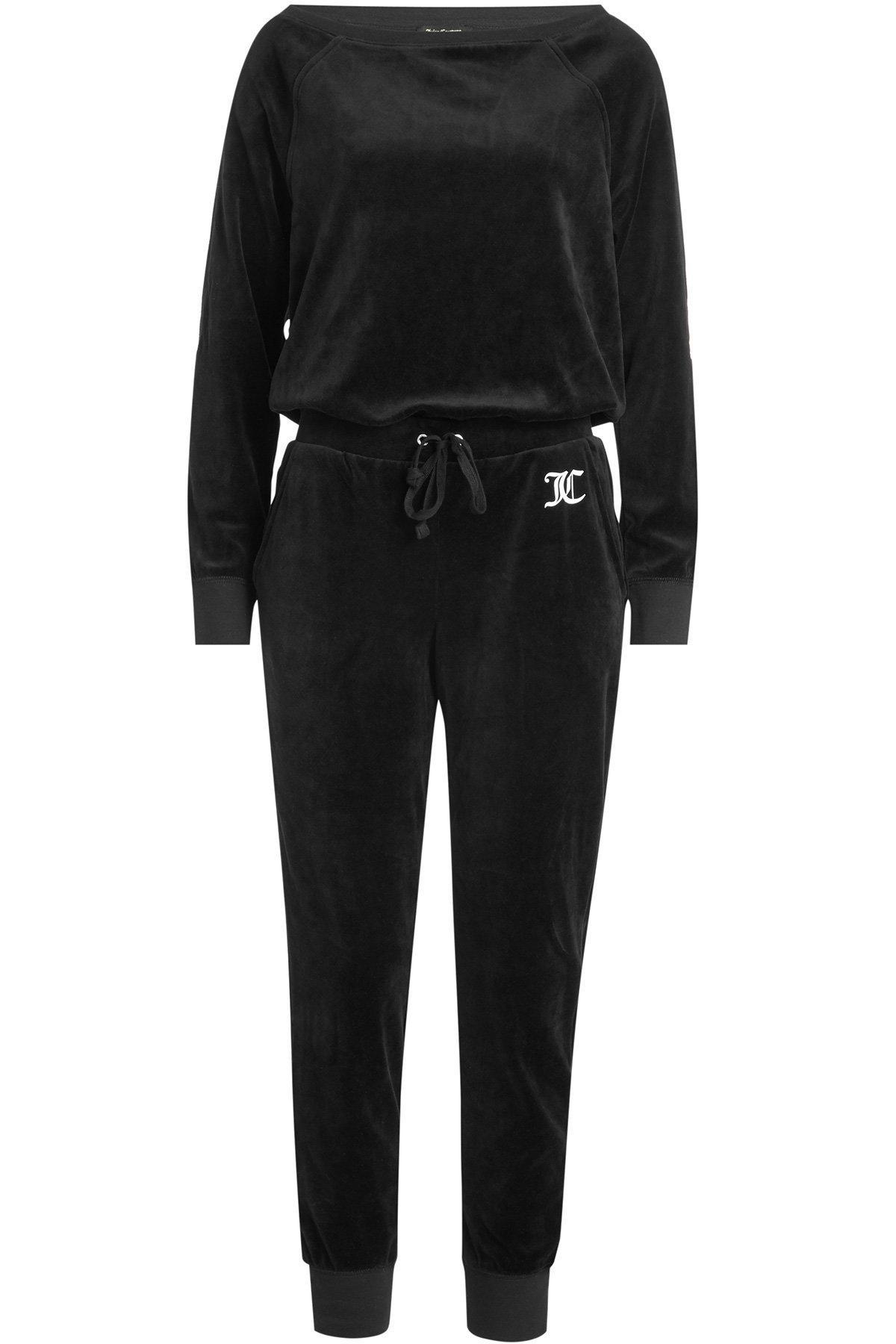 Juicy Couture Velour Jumpsuit In Black