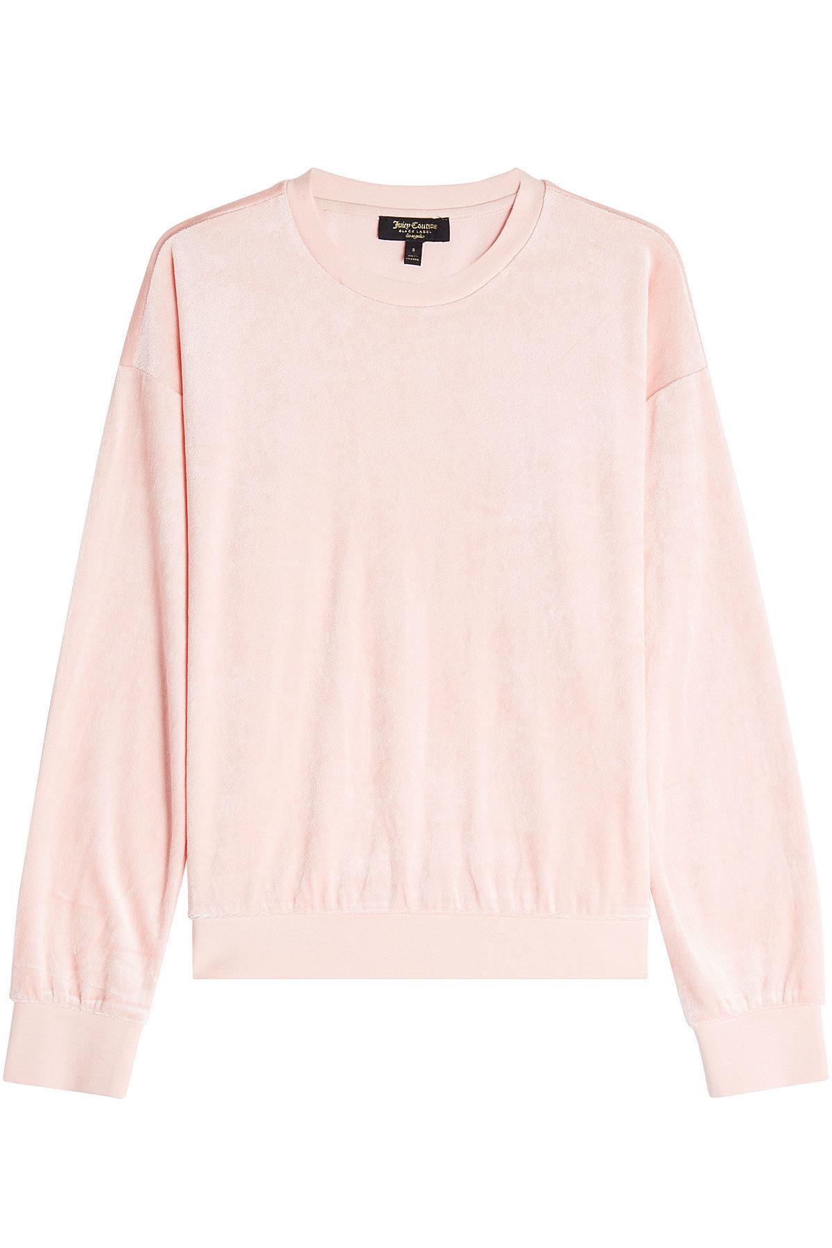 Juicy Couture Velour Sweatshirt In Pink